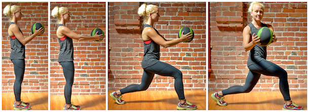 baller workout ab rotation lunge