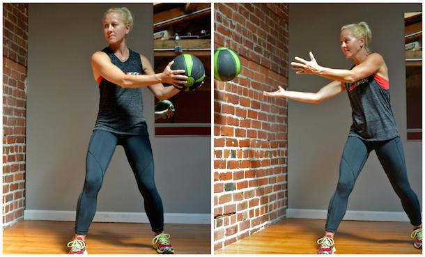 baller workout ab rotation side slam