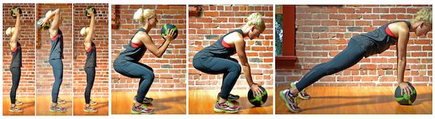baller workout squat tricep